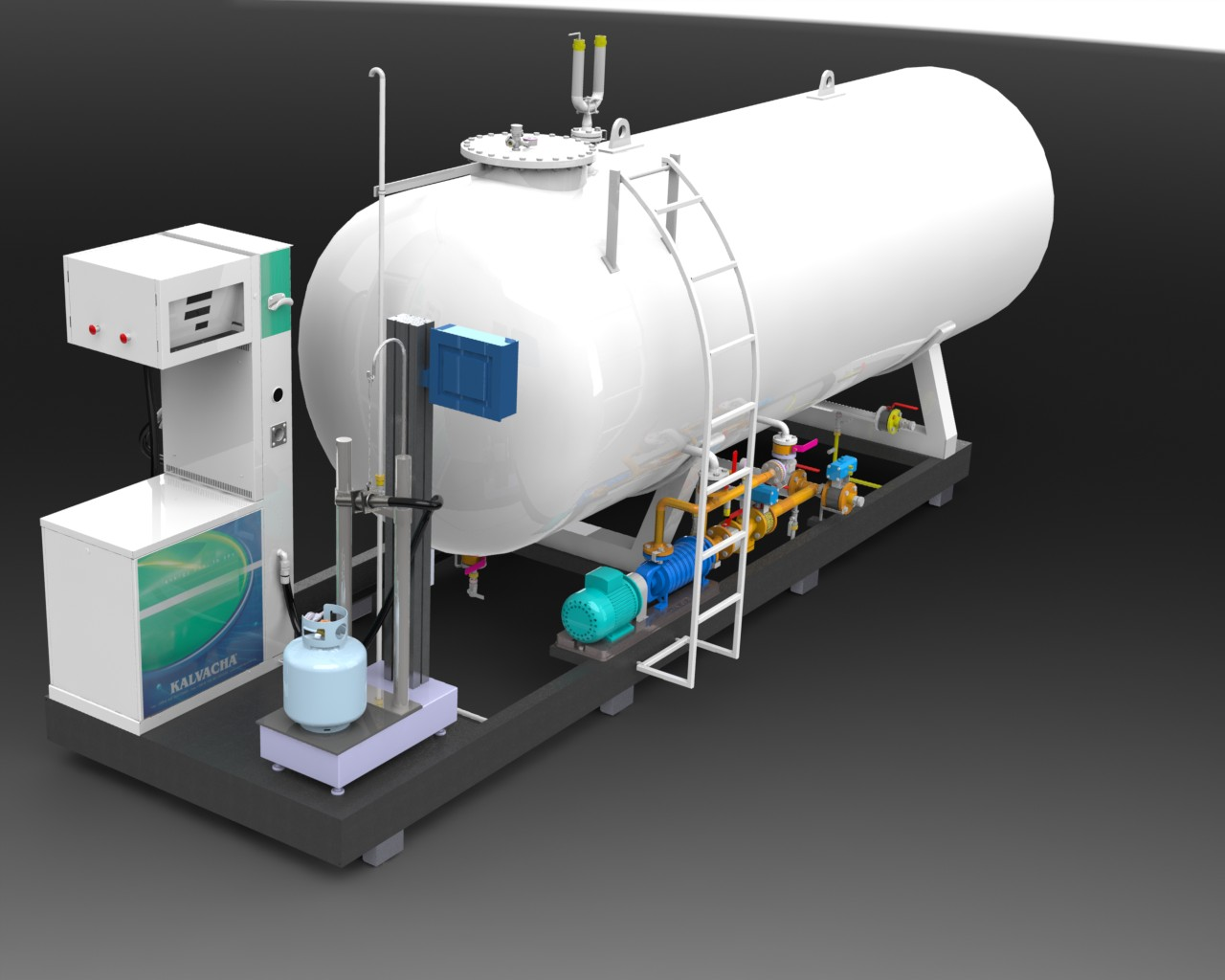 Lpg Skid Station With Dispenser And Weigh Scale Macs